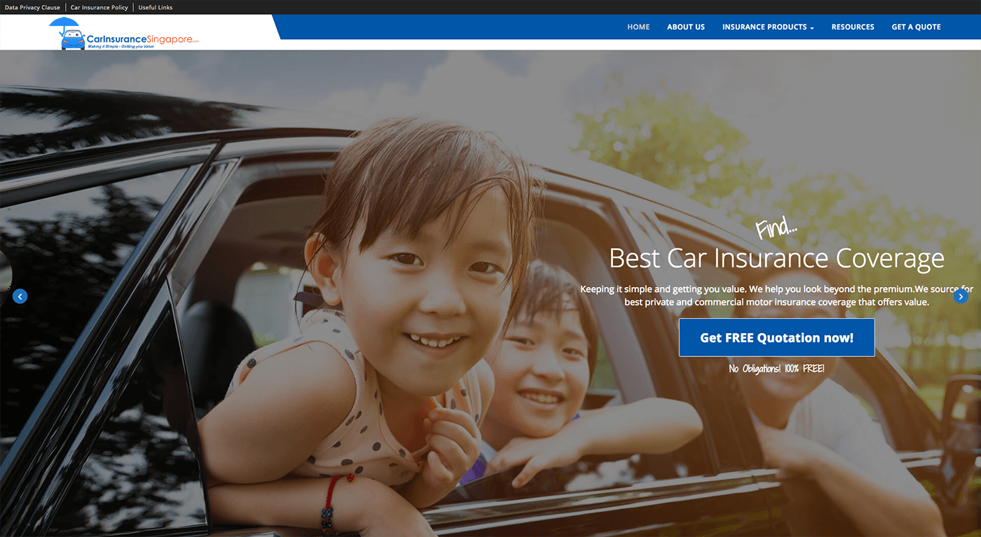 Car Insurance Singapore Website