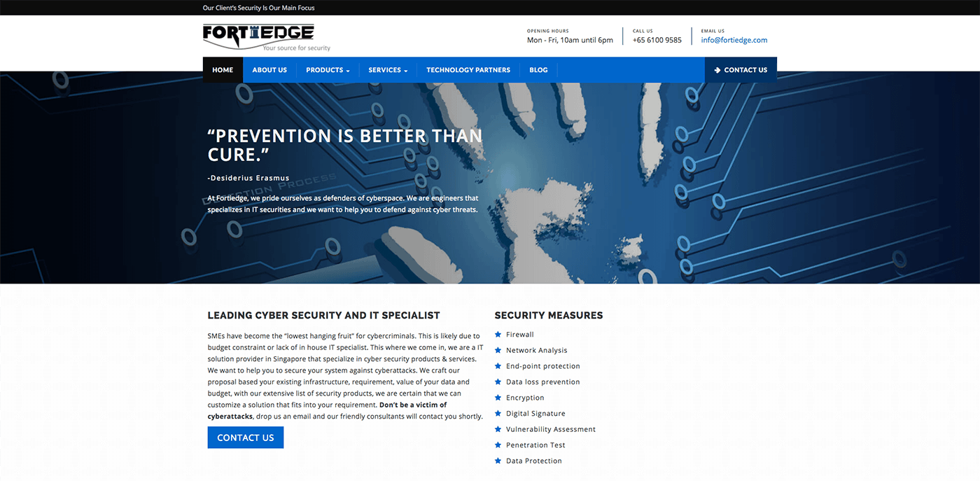 Thinking Notes Projects Showcase - Fortiedge Website