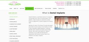 Thinking Notes Projects Showcase - Casa Dental Website