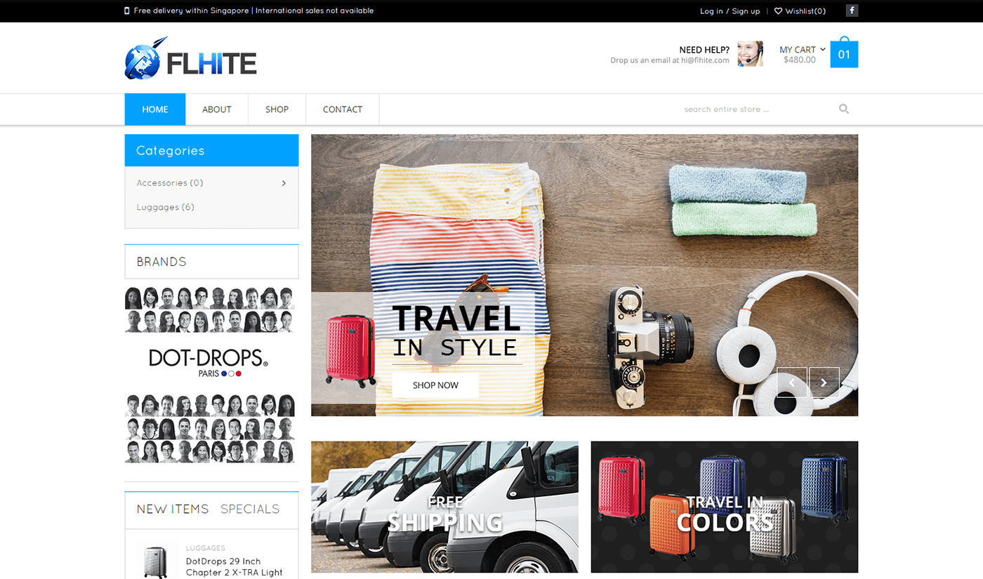 Flhite Website