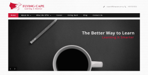 Thinking Notes Projects Showcase - Flying Cape Website