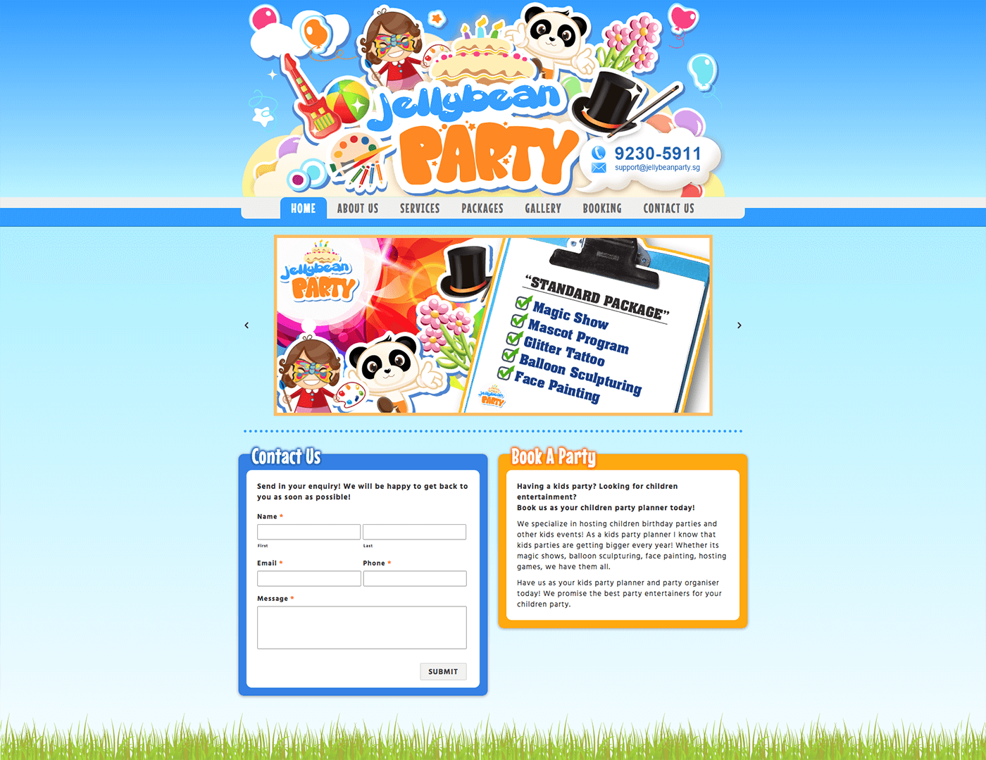 Thinking Notes Projects Showcase - JellyBean Party Website