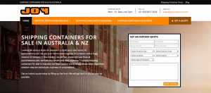 Thinking Notes Projects Showcase - Joy Containers Website