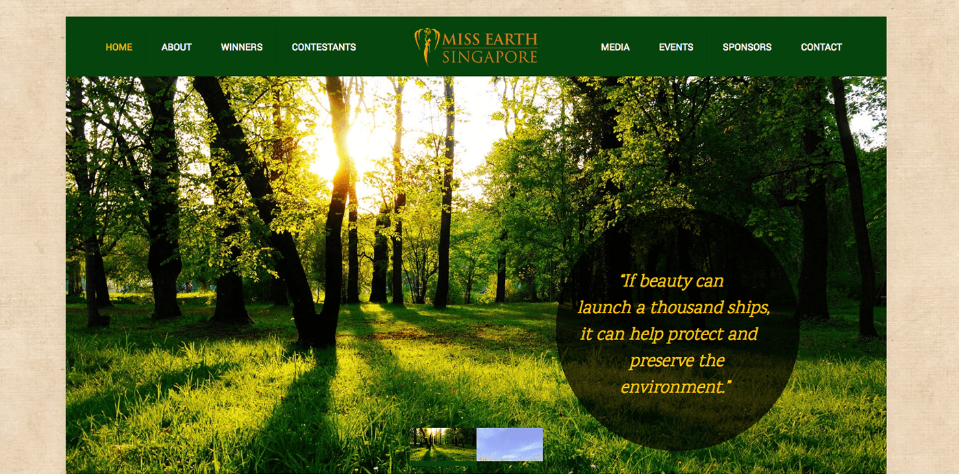 Thinking Notes Projects Showcase - Miss Earth Website