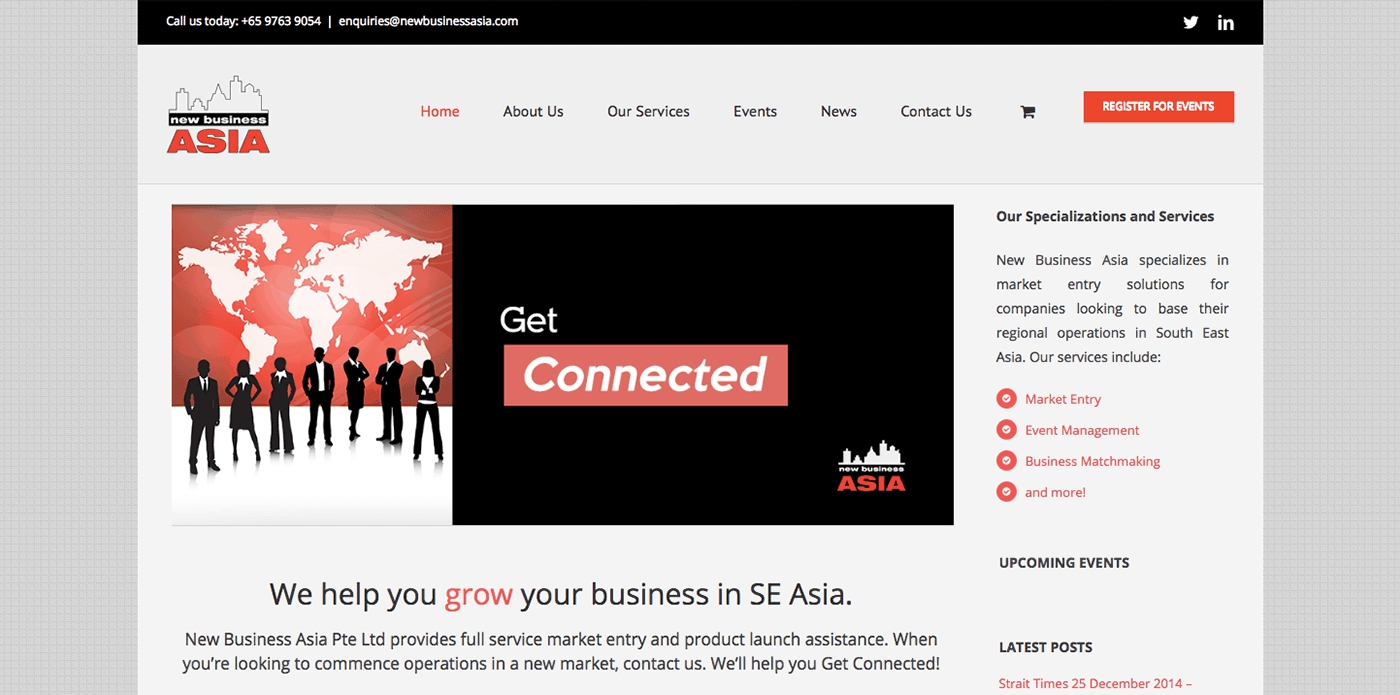 Thinking Notes Projects Showcase - New Business Asia Website