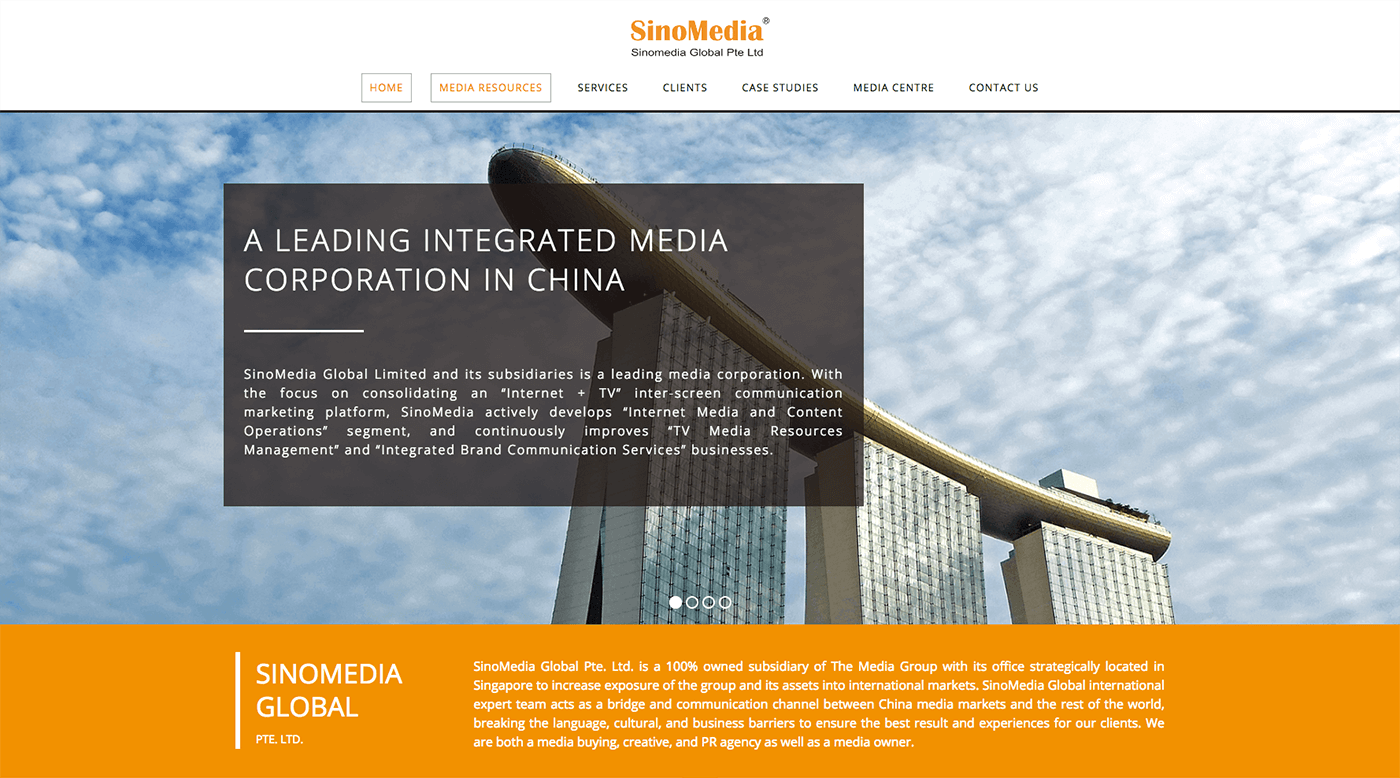 Thinking Notes Projects Showcase - SinoMedia Website
