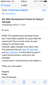 Testimonial from King of Strength