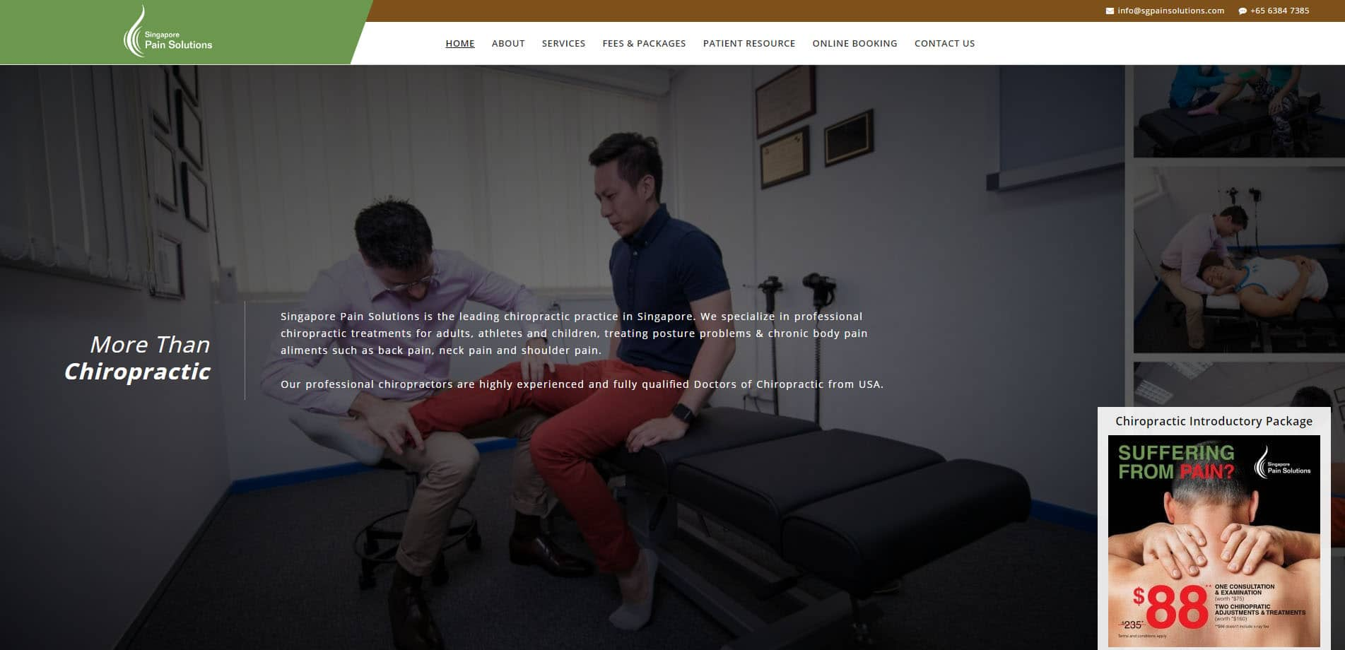 Chiropractors-Singapore-Singapore-Pain-Solutions Projects Showcase