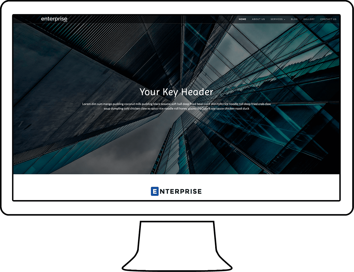 EnterpriseNotes WordPress Theme Design