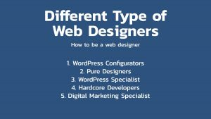 How to be a web designer