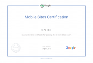 Google Partners - Mobile Site Certification