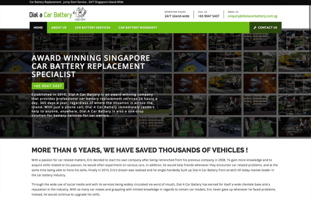 DACB (Dial A Car Battery) Website