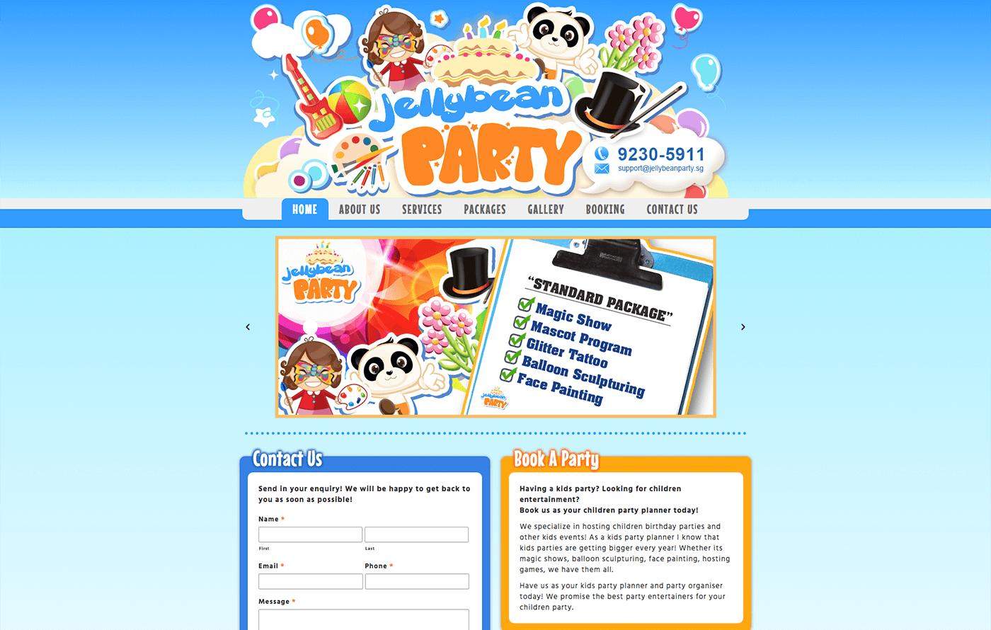 JellyBean Party Website