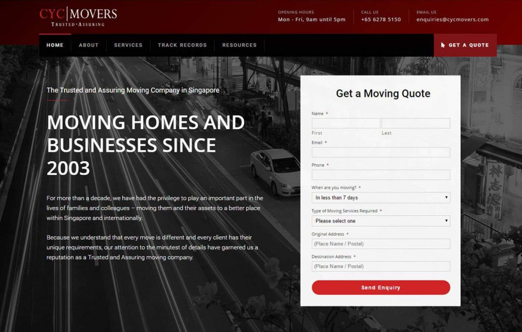 CYC Movers Website