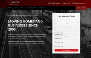 Thinking Notes Projects Showcase - CYC Movers Website