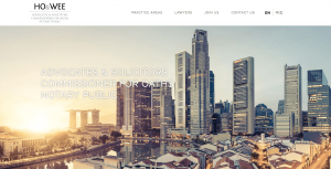 Thinking Notes Projects Showcase - Ho & Wee Singapore Law Firm Website