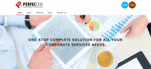 Thinking Notes Projects Showcase - Perfecten Corporate Services Website