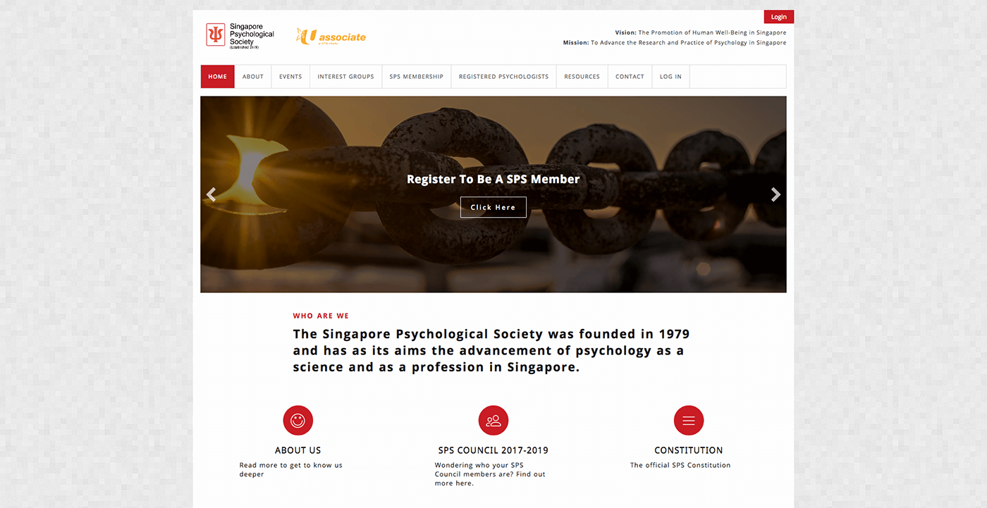 Thinking Notes Projects Showcase - Singapore Psychological Society Website