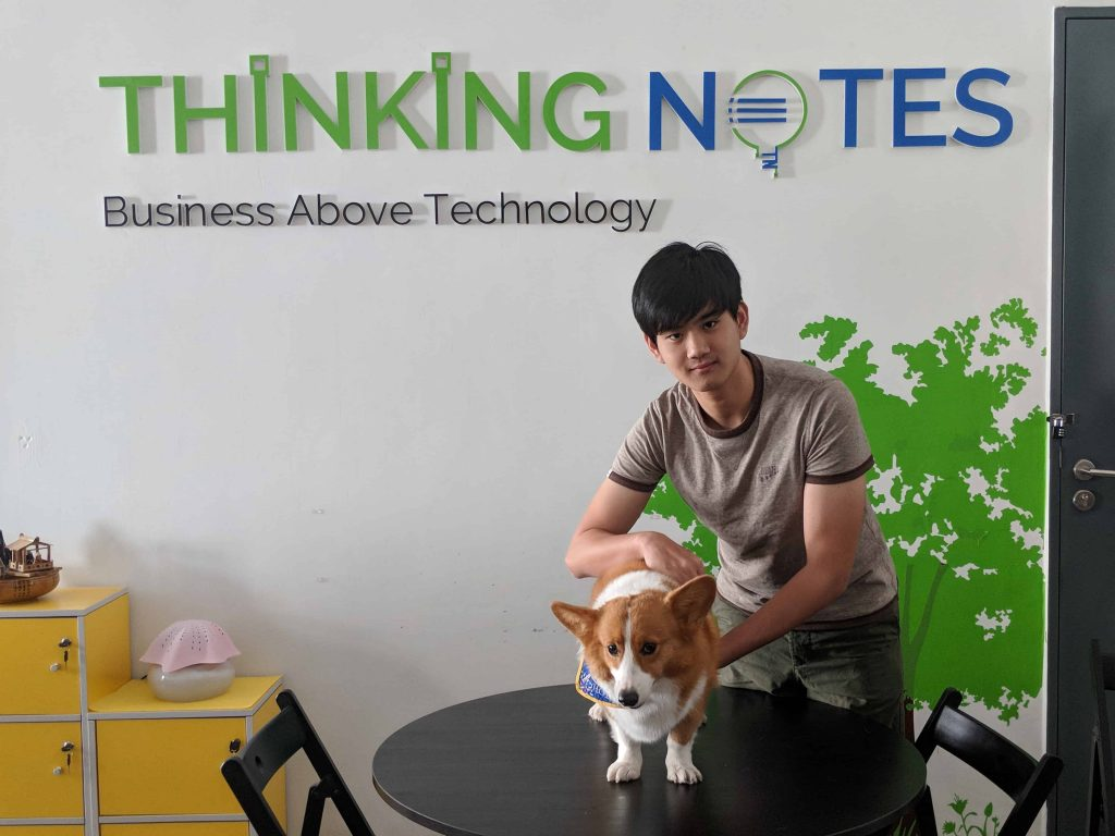 Thinking Notes Intern Together WIth Choppie, the Corgi