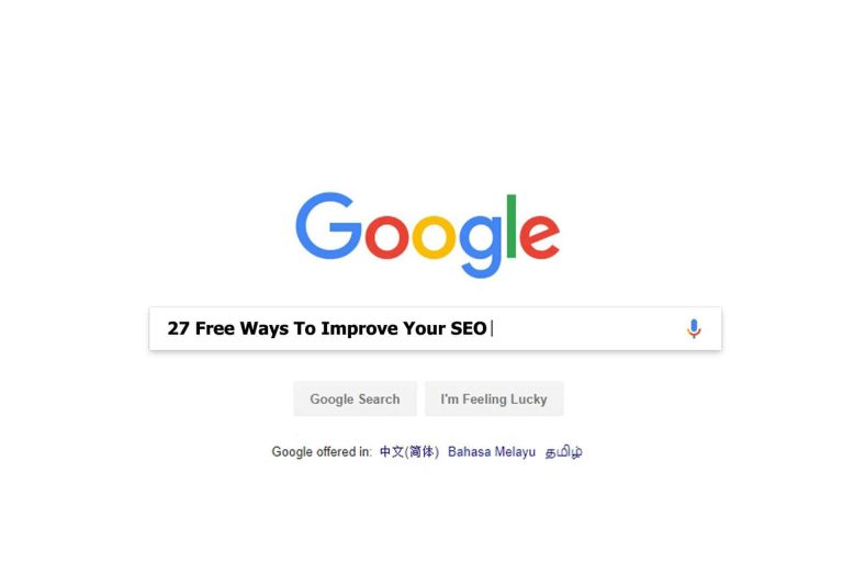 27 Free Ways To Improve Your SEO (Onsite And Offsite)