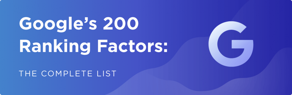200 SEO factors that affect ranking results on Google