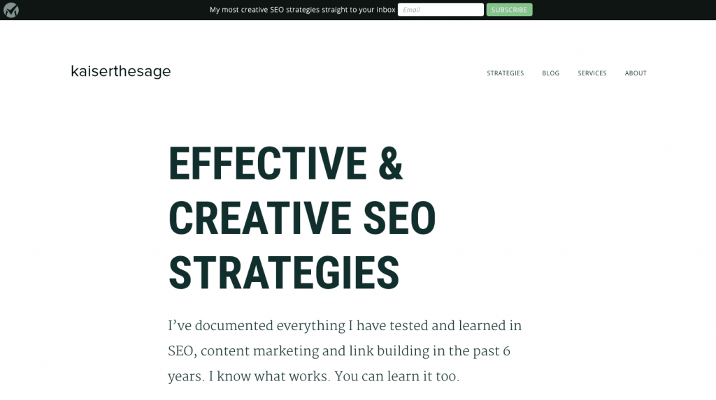 Kaiserthesage - SEO blog by Jason Acidre