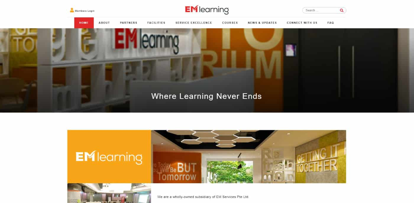 Thinking Notes Projects Showcase: EM Learning Website