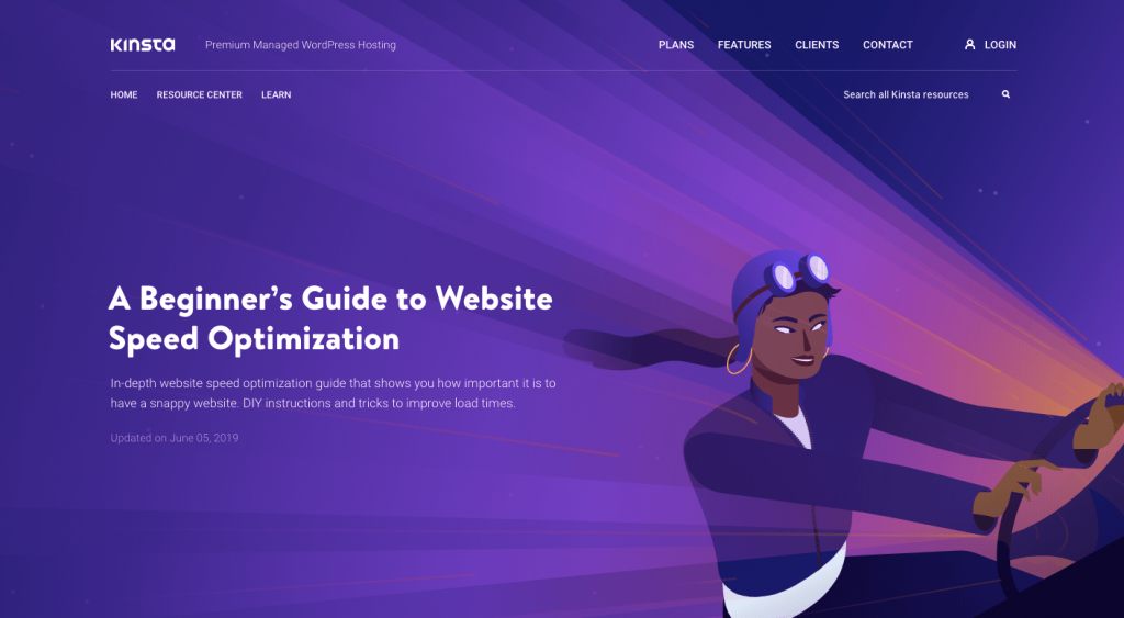 website speed optimisation by Kinsta