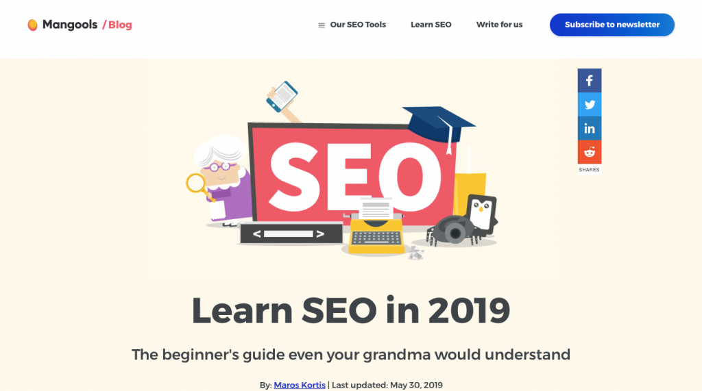 Ultimate SEO Guide by Mangools