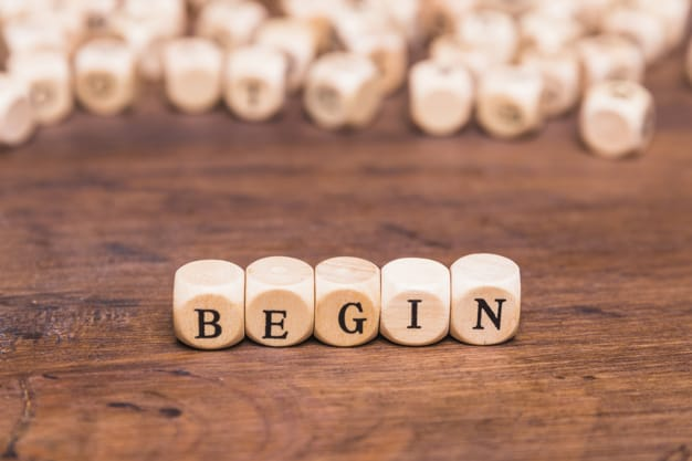 word blocks that makes the word 'begin'