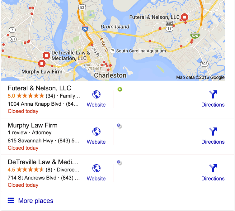 An illustration of Google Local 3-pack