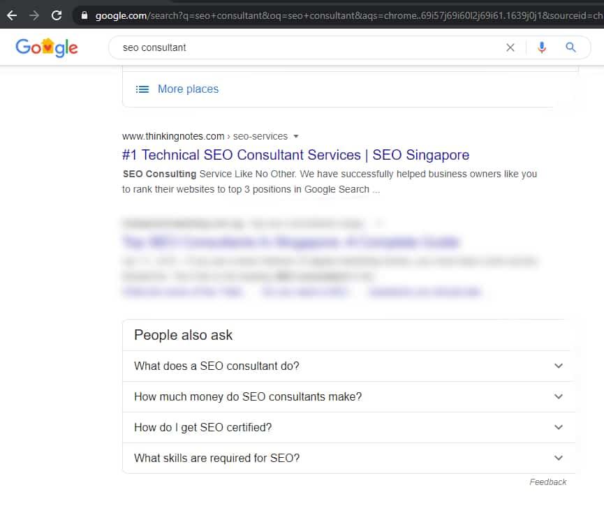 Top SEO Consultant in Singapore